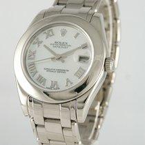 Rolex Lady-Datejust Pearlmaster Oro blanco 32mm Madreperla Romanos