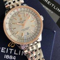 Breitling U17326211G1A1 Gold/Steel 2021 Navitimer 41mm new
