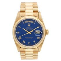 Rolex Day-Date 36 Yellow gold 36mm Blue Roman numerals United States of America, Texas, Dallas