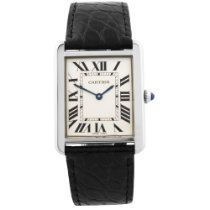 Cartier Tank Solo pre-owned 26mm Silver Leather