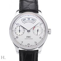 IWC Portuguese Annual Calendar Steel 44.2mm Silver