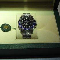 Rolex GMT-Master II Stahl 40mm Schwarz Keine Ziffern Schweiz, Arbon