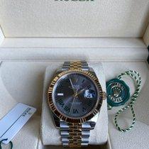 Rolex Datejust Gold/Steel 41mm Grey No numerals