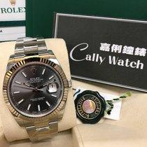 Rolex Cally - {2017 New} Datejust 41mm 126334 dark rhodium dial