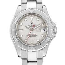 Rolex Yacht-Master Stainless Steel 35mm Platinum Dial 168622