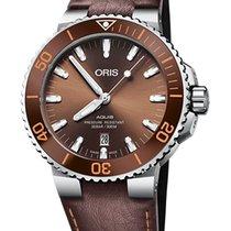 Oris Aquis Date Steel 43.5mm Brown