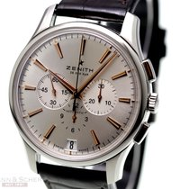 Zenith Captain Chronograph pre-owned 42mm Silver Chronograph Date Leather