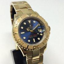 Rolex Yacht-Master подержанные 29mm Синий Дата Желтое золото