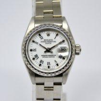 Rolex Oyster Perpetual Lady Date Acero 26mm Blanco Sin cifras España, Marbella