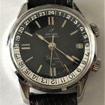 Enicar Sherpa Steel 36mm Black No numerals