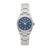 Rolex Steel Automatic Blue Arabic numerals 31mm pre-owned Oyster Perpetual 31