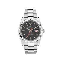 Rolex Datejust Turn-O-Graph Acier 36mm Noir Sans chiffres