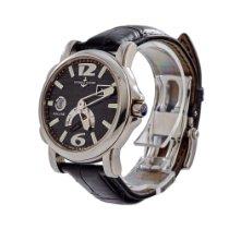 Ulysse Nardin Dual Time gebraucht 42mm Schwarz Datum GMT/Zweite Zeitzone Leder