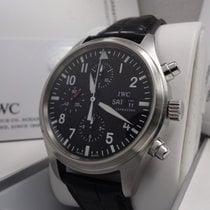 IWC Pilot Chronograph Acero 42mm Negro Arábigos España, Barcelona