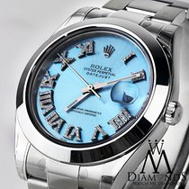 Rolex Datejust Ii 116300 Men's 41mm Ice Blue Stainless...