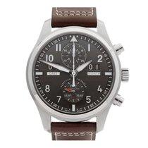 IWC Pilot's Chronograph Perpetual Calendar Stainless Steel...