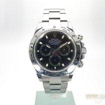 롤렉스 (Rolex) Daytona Edelstahl schwarzes Zifferblatt  116520 ...