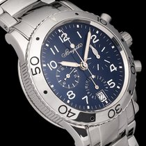 Breguet Chronograph 39mm Automatic 1998 pre-owned Type XX - XXI - XXII Blue