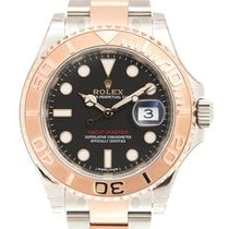 勞力士 Yacht Master 18k Rose Gold And Steel Black Automatic...