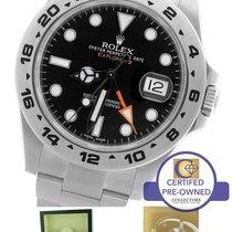 Rolex Explorer II 42mm 216570 Black Orange Stainless GMT Date