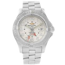 Breitling Colt Gmt Automatic Silver Dial Steel Mens Watch A32350