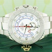 Rolex Yacht-Master II 18K White Gold 44M Platinum Bezel Oyster...