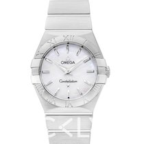 Omega Constellation Quartz White MOP Steel 27mm - 123.10.27.60...