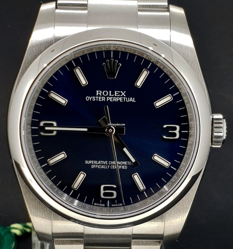 Rolex Oyster Perpetual 36MM Blue Dial Box Papers za 4 80cd576c81c