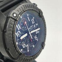 Breitling Super Avenger gebraucht 48mm Schwarz Chronograph Datum Kautschuk
