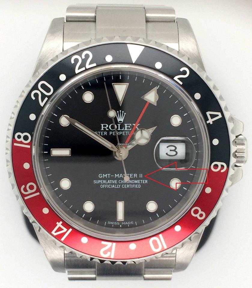 Rolex 16710 GMT II, Error dial, 3186 Movement, Coke Bezel