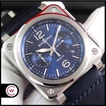Bell & Ross BR 03-94 Chronographe новые 2019 Автоподзавод Хронограф Часы с оригинальными документами и коробкой BR0394-BLU-ST/SCA