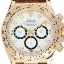 Rolex Daytona Yellow gold 40mm White