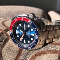 Seiko Prospex Steel 45mm Blue No numerals United States of America, New York, Selkirk