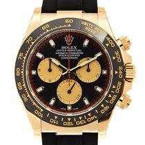 Rolex Daytona Жёлтое золото 40mm Чёрный