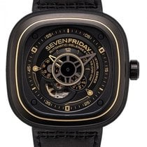 Sevenfriday P2-2 Stal 47mm Czarny