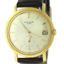 Patek Philippe Calatrava 18k Yellow Gold Automatic Date Dress...
