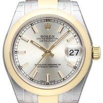 Rolex Datejust 31 Edelstahl Gelbgold 178243 Silber Oyster-Band