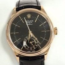 Rolex Cellini Dual Time Rose gold 39mm Black No numerals United States of America, New York, Greenvale
