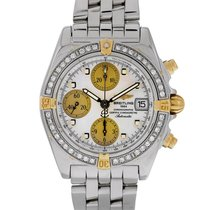 Breitling Chrono Cockpit pre-owned 39mm Mother of pearl Chronograph Date Steel