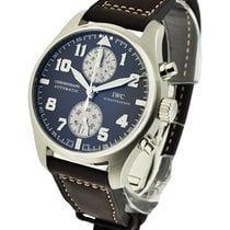 IWC IW387806 Saint Exupery Chronograph in Steel - on Brown...
