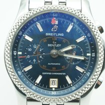 Breitling Bentley Mark VI Stainless Steel Blue Dial  BOX & PAPER