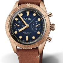 Oris Carl Brashear Bronze 43mm Blue No numerals