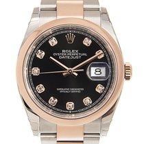 勞力士 Datejust 18k Rose Gold And Steel Black Automatic 126201GBK_O