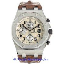 Audemars Piguet Royal Oak Offshore Chronograph occasion 44mm Blanc Chronographe Date Cuir