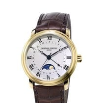 Frederique Constant Classics Moonphase gebraucht Gold/Stahl