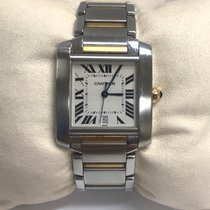 Cartier Tank Française pre-owned 28mm Steel