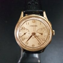 Leonidas Gold/Steel 37mm Manual winding Chronograph pre-owned United Kingdom, Blackburn