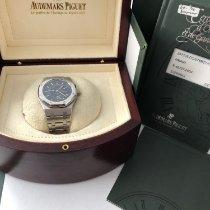 Audemars Piguet Royal Oak Dual Time Steel 36mm Blue No numerals