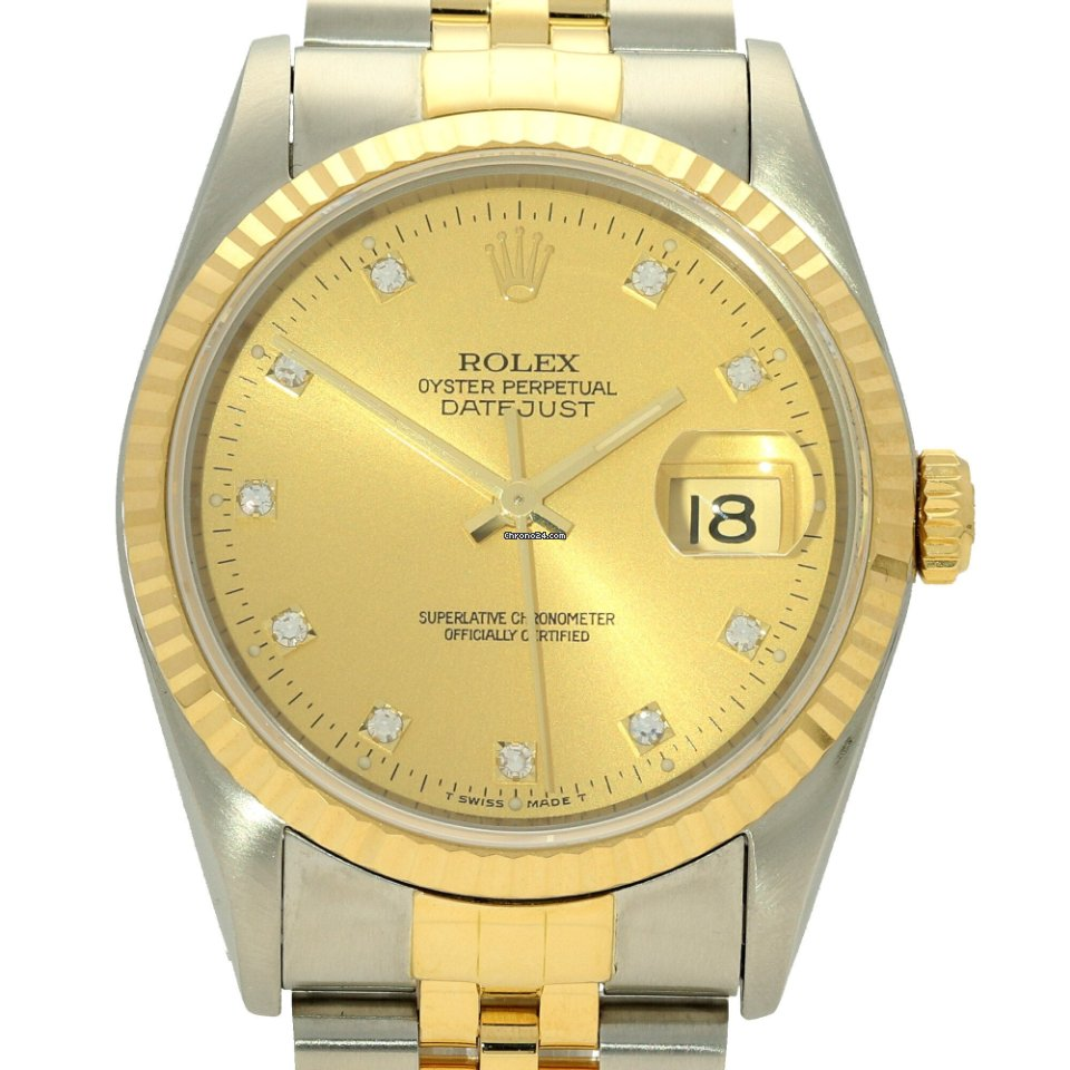 276b895f7fe Rolex Datejust 16233 - Champagne Diamond Dial - 1994 for $6,263 for sale  from a Trusted Seller on Chrono24