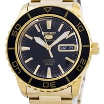 Seiko 5 Sports Gold/Steel 45mm Black
